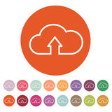 The upload to cloud icon. Download symbol. Flat Stock Photo