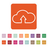 The upload to cloud icon. Download symbol. Flat Royalty Free Stock Photography