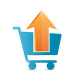 Upload to shopping cart icon illustration design Stock Photography