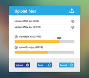 Upload user interface Royalty Free Stock Photography