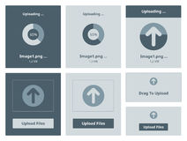 Upload vector interface Royalty Free Stock Photos