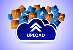 Upload  web icon Royalty Free Stock Photo