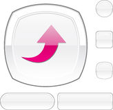 Upload white button. Stock Images
