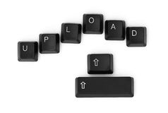 UPLOAD word written on a keyboard Royalty Free Stock Images