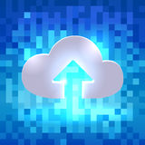 Uploading active cloud icon Royalty Free Stock Photo