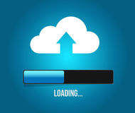 Uploading cloud computing content. Stock Images