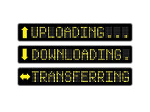 Uploading Downloading LED Signs. Uploading, downloading and transferring LED display signs Royalty Free Stock Image