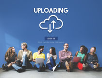 Uploading Upload Data Download Information Concept Royalty Free Stock Photo