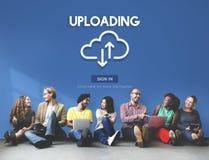 Uploading Upload Data Download Information Concept Royalty Free Stock Photo