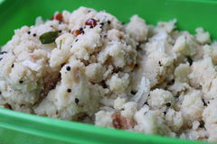 Upma in Lunch box Royalty Free Stock Photography