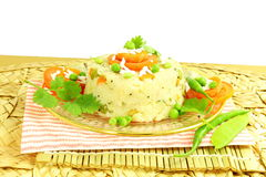 Upma south indian snack Dish made from semolina sooji or rava Stock Photo