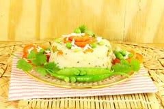 Upma south indian snack Dish made from semolina sooji or rava Stock Photography