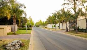 Upmarket wealthy suburban Johannesburg neighborhood Stock Photography