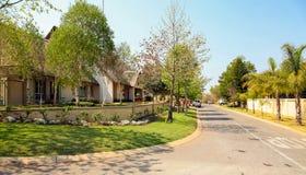 Upmarket wealthy suburban Johannesburg neighborhood Stock Photos
