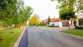 Upmarket wealthy suburban Johannesburg neighborhood Royalty Free Stock Image
