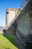 Upnor Castle is an Elizabethan artillery fort located on the west bank of the River Medway in Kent Royalty Free Stock Image