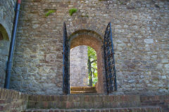 Upnor Castle is an Elizabethan artillery fort located on the west bank of the River Medway in Kent Royalty Free Stock Photography