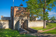 Upnor Castle is an Elizabethan artillery fort located on the west bank of the River Medway in Kent Stock Photo