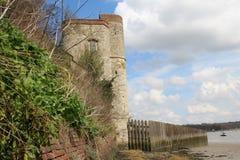 Upnor slott på Rochester Arkivfoton