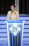 Upoważniający pod prezydentem federacja rosyjska na dobrach dziecko Anna Kuznetsova Fotografia Stock