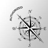 Upoważniający słowo pisać na boku kompas Zdjęcie Royalty Free