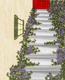 Upp den tillbaka trappan Royaltyfri Bild