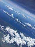 Upp i skyen Arkivbilder