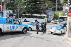 UPP - L'unità di polizia pacificante del Complexo fa Alemão Fotografia Stock