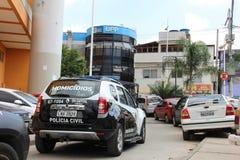UPP - L'unità di polizia pacificante del Complexo fa Alemão Fotografia Stock Libera da Diritti