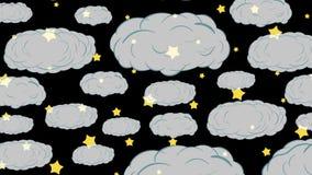 Upp over genomskinliga moln arkivfilmer