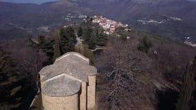 Upp sikt av landskapet av Ligurian länder stock video