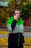 Upp vädret för höst för gataaffärsmän Royaltyfria Foton