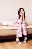 upp vakna kvinna Fotografering för Bildbyråer