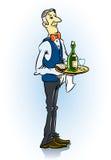 uppassare för matrestaurangheltäckande Stock Illustrationer