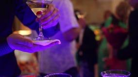 Uppassare Giving The Champagne stock video