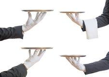 Uppassarehänder som rymmer magasin Arkivbilder