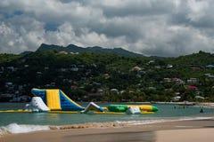 Uppblåsbar strandlekplats Arkivbilder