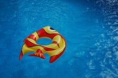 Uppblåsta leksaker i en simbassäng Royaltyfri Bild