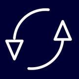 Uppdatera eller lägg tillbaka symbolen av vita översikter för uppsättningen Arkivbilder