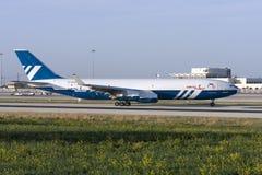 Uppdaterad rysk trafikflygplan Arkivbilder