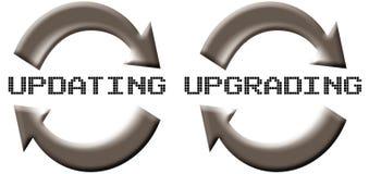 uppdatering av förbättring stock illustrationer