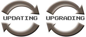 uppdatering av förbättring vektor illustrationer