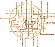 Uppdiktad gångtunnelöversikt, utrymme för fri kopia, vektor vektor illustrationer