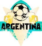 Uppdiktat grungy emblem Argentina för fotboll/för fotboll vektor illustrationer