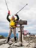 Uppe på Mt washington Arkivfoton