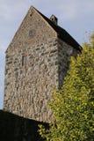 Uppehälle av slotten Schweppermannsburg på Pfaffenhofen, övrepfalzgrevskap, Tyskland Arkivbilder