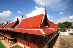 Uppehåll av munkträhusen Arkivfoto
