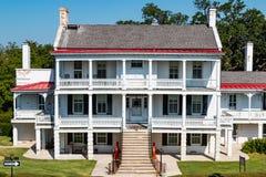 Uppehåll för fortMonroe Commanding Officer ` s i Hampton, Virginia Arkivbilder