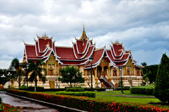 Uppehåll Pha som Luang, Laos Arkivbild