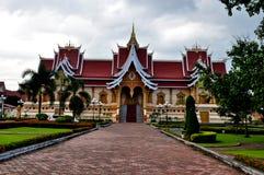 Uppehåll Pha Thatluang, Laos Royaltyfria Bilder